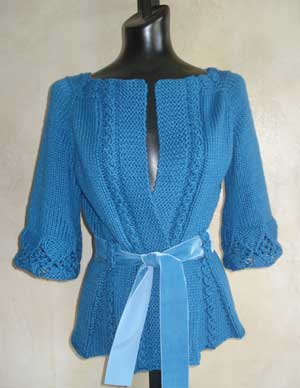lace cotton cardigan knitting pattern