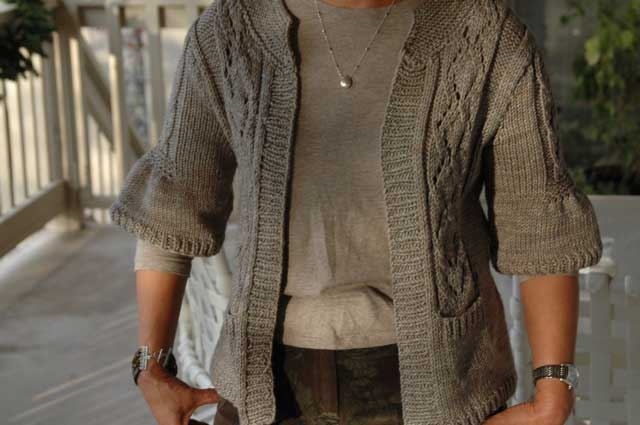 Lush and Lace Cardigan Knitting Project