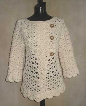 Crochet Stitch Jacket : Heres the latest project off of my crochet hook. Ive been wearing i...