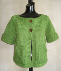 Short Sleeved Cardigan Knitting Pattern