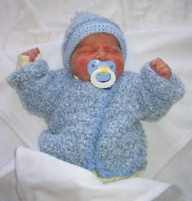 Cute Crocheted Baby Outfit