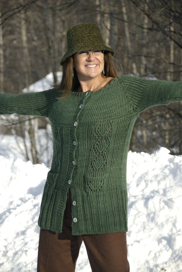 Lisas Top Down Long Lacy Cardigan Knitting Patterns Blog From