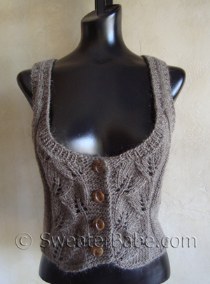 Jessicas Talia Vest Knitting Patterns Blog From Sweaterbabe