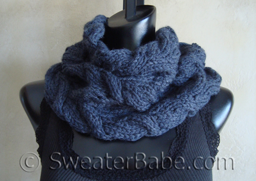 Luxe Cabled Cowl and Membership Giveaway! - Knitting Patterns Blog from Sweat...