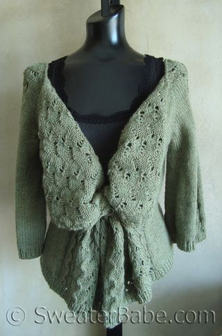 Drape Front Lace Cardigan Knitting Patterns Blog From Sweaterbabe