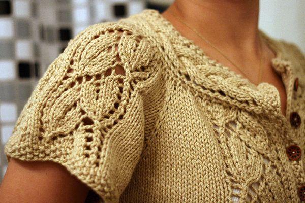 Margauxs Flutter Sleeved Blousy Cardigan Knitting Patterns Blog