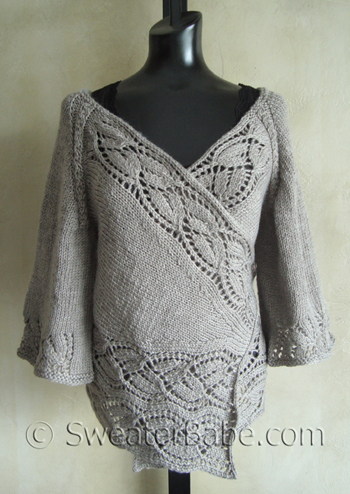 d0451df2e3bdb4 112 Dramatic Lace Top-Down Wrap Cardigan - Knitting Patterns Blog ...