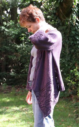 cardigan knitting pattern a finished version from france knitting plus