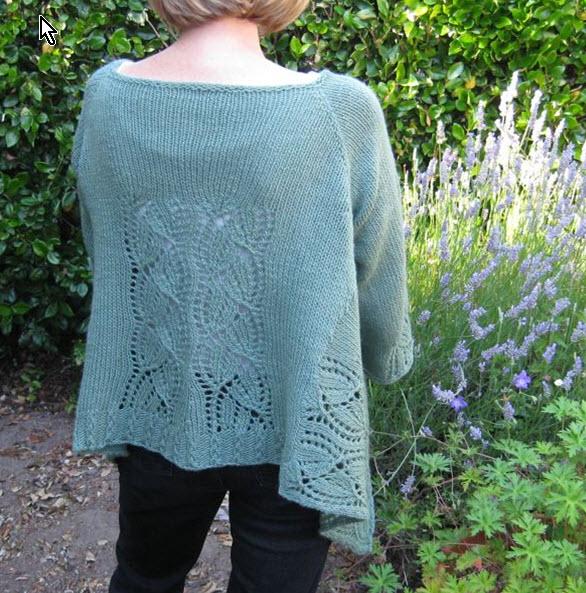 Knitting Pattern: Dramatic Lace Wrap Cardigan project ...