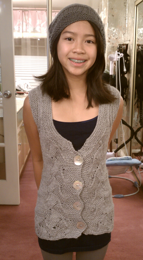 Talia Vest and Super Cute Newsboy make a great knit combo ...