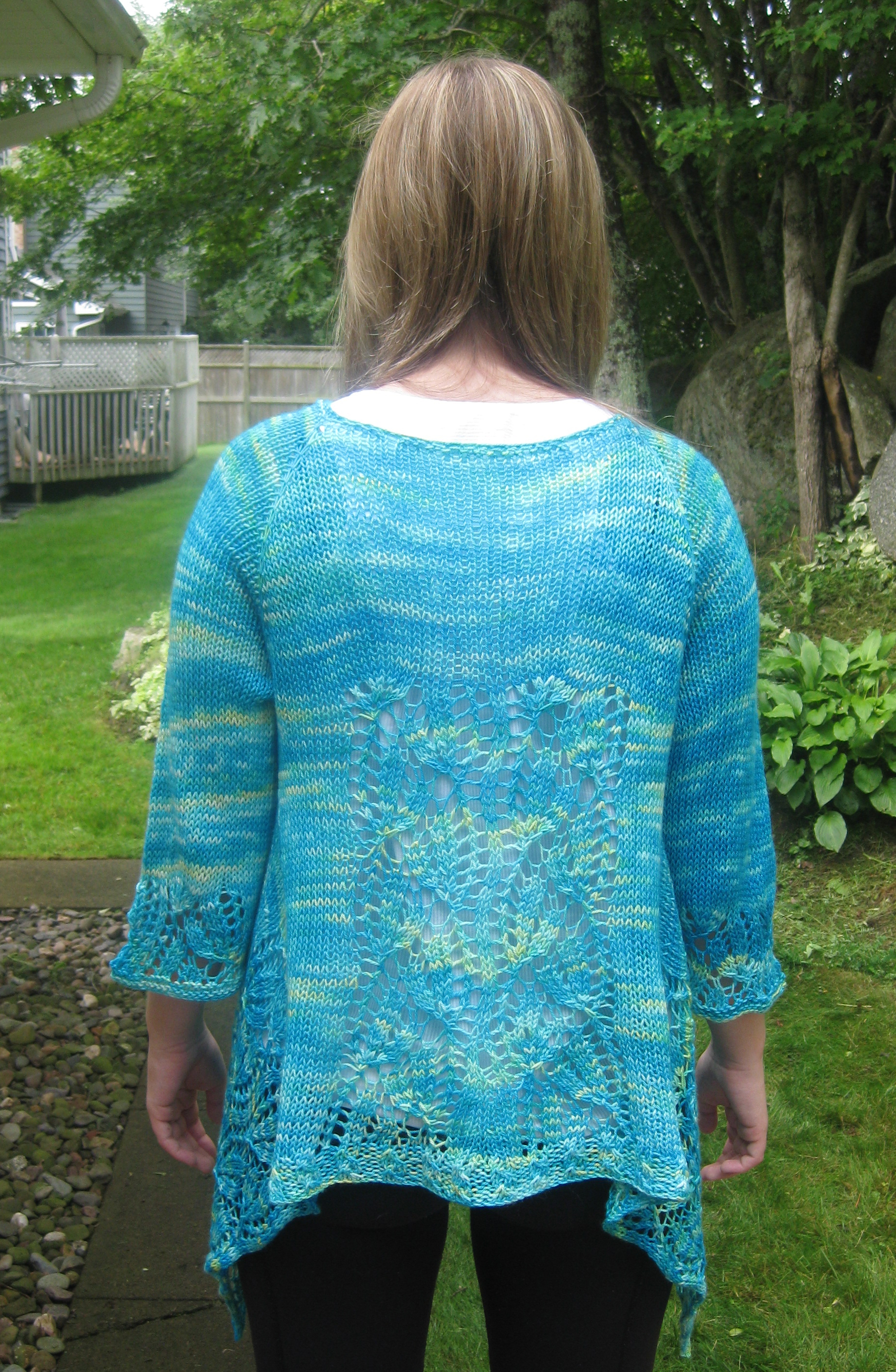 Knitting pattern for dramatic lace wrap cardigan great for all the pattern was easy to follow and knit up very quickly it was a bonus to not have any seams to deal with when the knitting was finished bankloansurffo Image collections