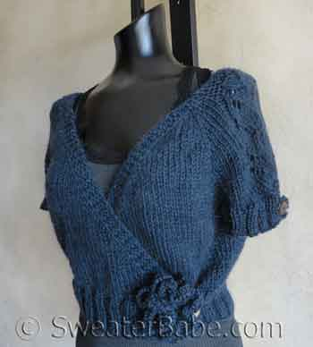 Knitting Pattern Wrap Cardigan : New knitting pattern - Sweet Ballet Wrap Cardigan - Knitting Patterns Blog fr...