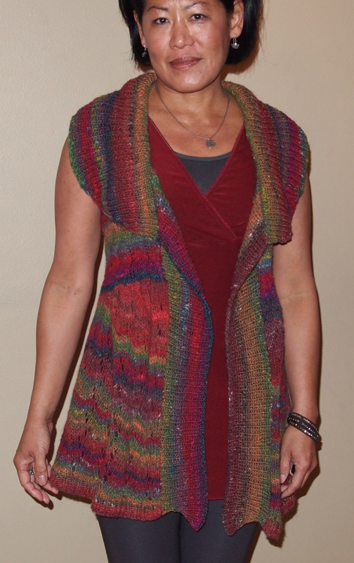 Noro Yarn And The Long Lace Vest Knitting Patterns Blog From