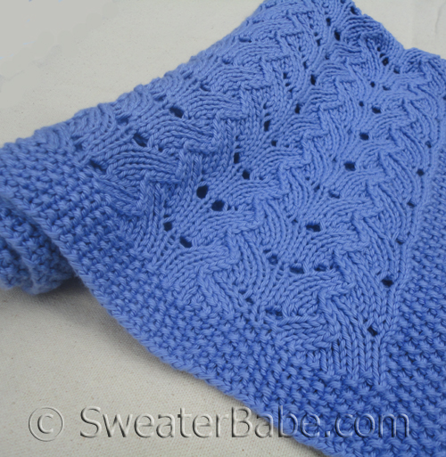 knitting pattern for fancy stitch baby blanket