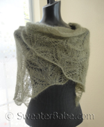 knitting pattern for samantha featherweight lace shawl
