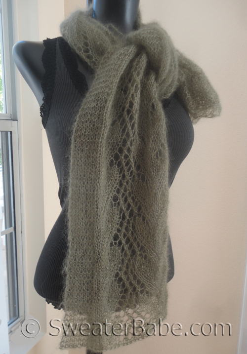 knitting pattern for gossamer one-ball lace scarf