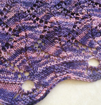 knitting pattern for violet zig zag shawl