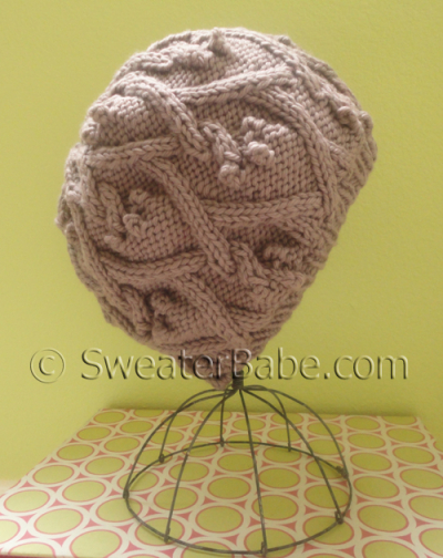 Slouchy Trellis Cabled Hat