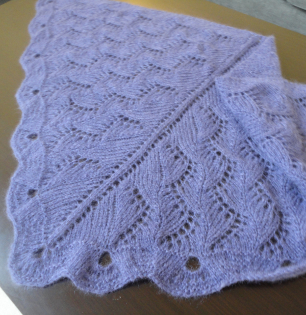FREE Pattern Pick: Violet Zig Zag Shawl by SweaterBabe - Knitting Patterns Bl...