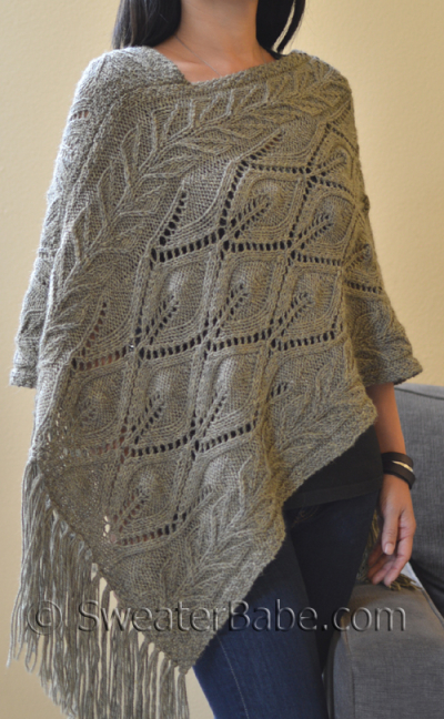Pattern Pick: Off-Kilter Lace Poncho by SweaterBabe - Knitting Patterns Blog ...
