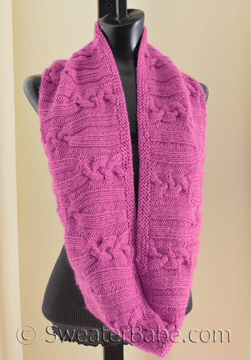 Free Pattern Pick Rose Cabled Circular Scarf By