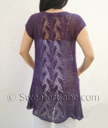 Whispering Leaves Lace Top-Down Cardigan