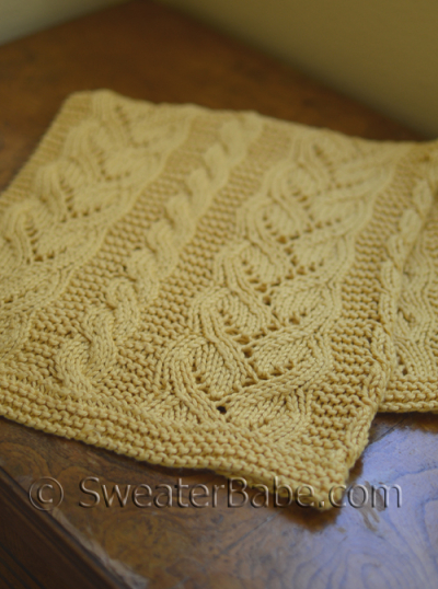 Fancy Knitting Patterns : Pattern Pick: Fancy Cables and Lace Baby Blanket by SweaterBabe - Knitting Pa...