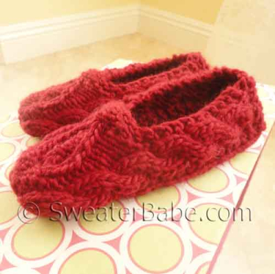 One-Skein Sweetheart Slippers