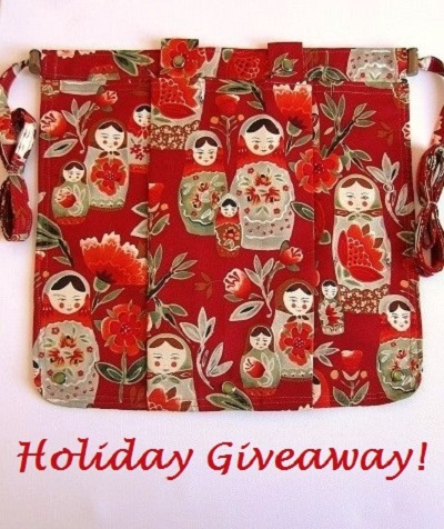 HOLIDAY GIVEAWAY Knitting Bag Apron