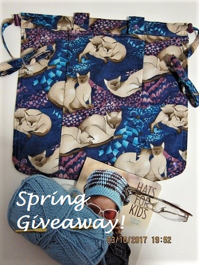 SPRING GIVEAWAY Knitting Bag Apron