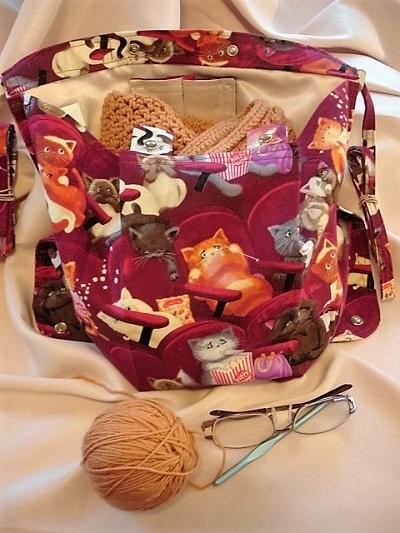 Scaredy Cats Knitting Bag Apron