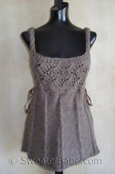 Romantic Cable and Lace Vest