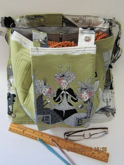 A Ghastlie Night Knitting Bag Apron