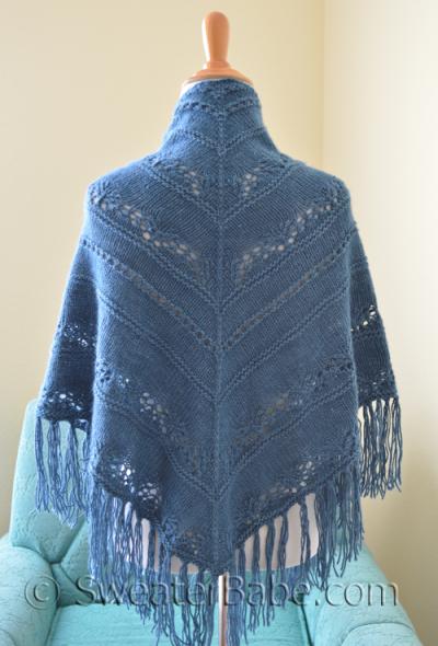 Sapphire Lace Shawl