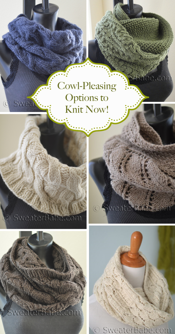 Complicated Knitting Patterns : Cowl-Pleasing Options to Knit Now! - Knitting Patterns Blog from SweaterBabe.com