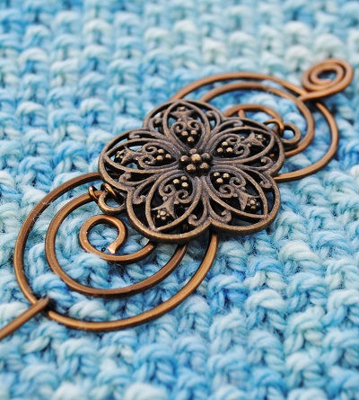 Flower Shawl Pin