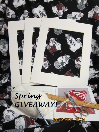 SPRING GIVEAWAY Fabric Art - Do Ewe Knit?
