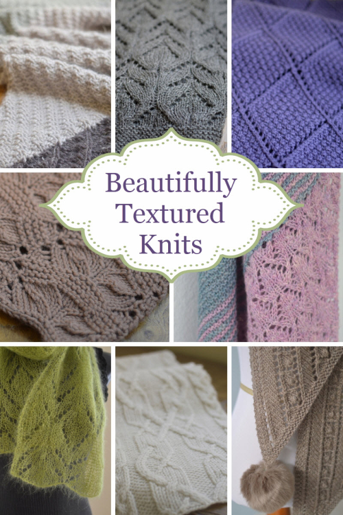 beautifully textured knitting
