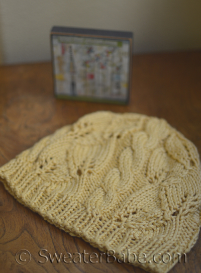 Breezy Lace and Cable Hat