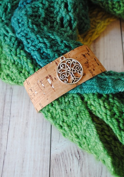 Celtic Tree Cork Shawl Cuff