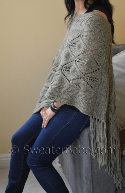 Off-Kilter Lace Poncho