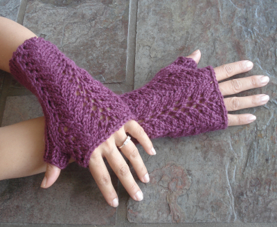 One-Skein Lace Fingerless Gloves