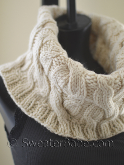 Double Cabled Cowl