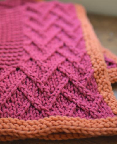 Lattice Design Baby Blanket