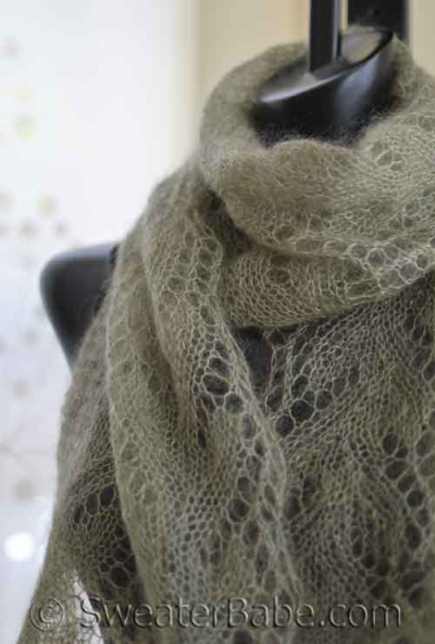 Gossamer One-Ball Lace Scarf